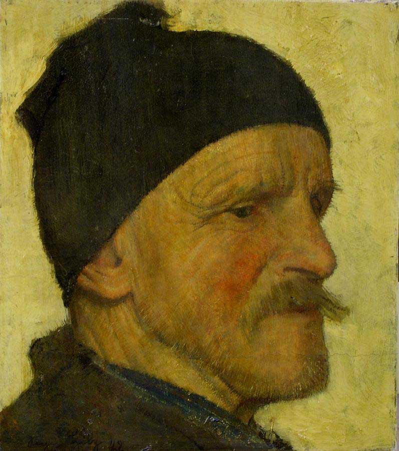 Alter Mann mit HaubeSeppHilz1942