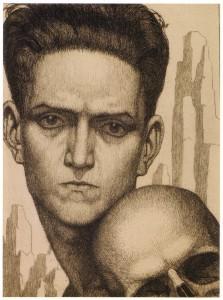 Gli Amici, 1924, acquaforte su rame