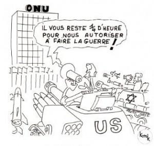 """Legenda vignetta : """"Vi resta un quarto d'ora per autorizzarci a fare la guerra!"""""""