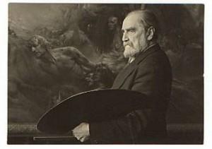 Ludwig Fahrenkrog nel suo studio